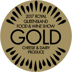 2017 Royal Queensland Food & Wine Show Gold cheese & dairy produce